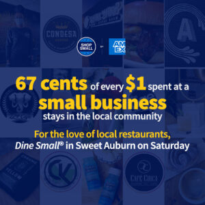 Dine Small in Sweet Auburn on Small Business Saturday