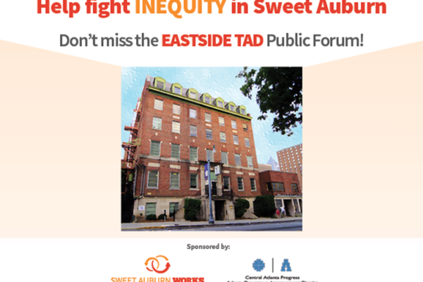 Help fight INEQUITY in Sweet Auburn