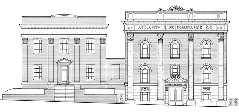 atlanta life architectural rendering